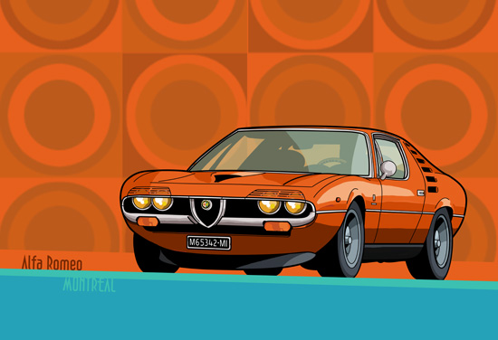 Alfa Romeo Montreal orange © reer-art