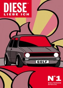 VW Golf GTI art, kunst