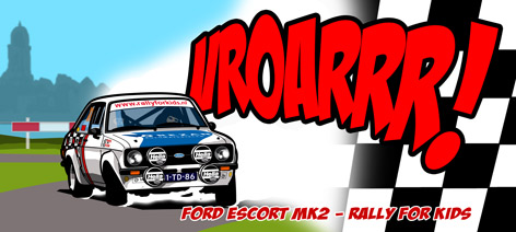 Ford Escort MK2 'Rally for Kids' © reer-art